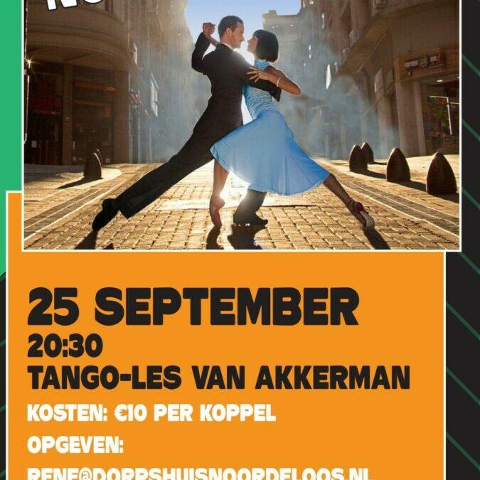 25 september: Dansavond
