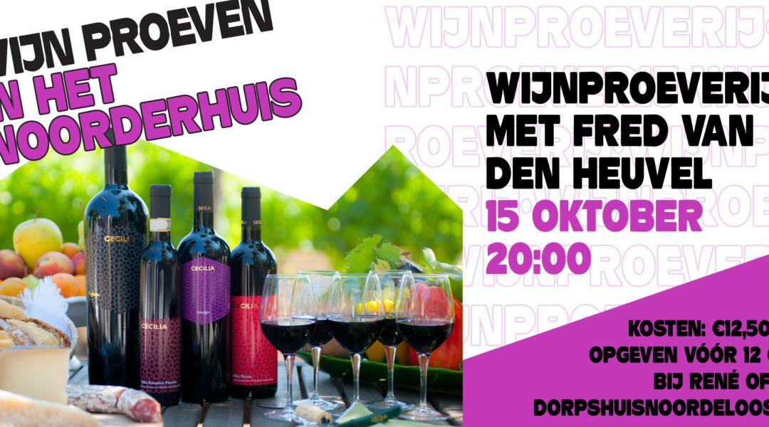 15 oktober: Wijnproeverij
